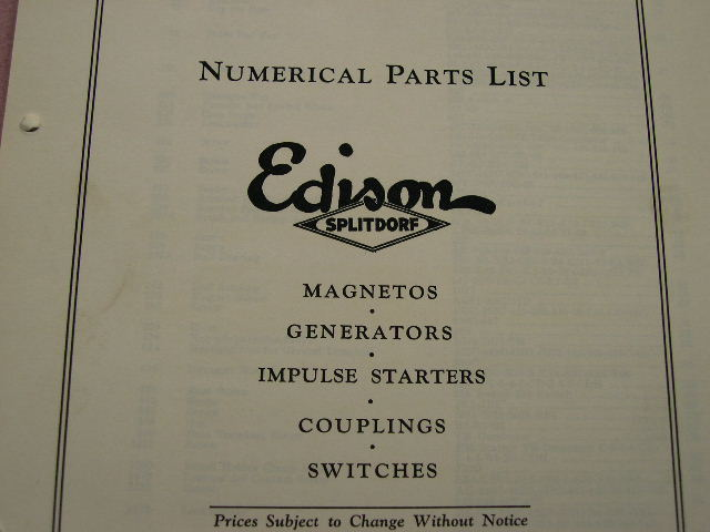 magnetos and parts